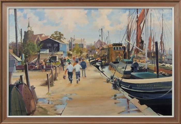 'Hythe Quay, Maldon' by Gordon Hereward Hales