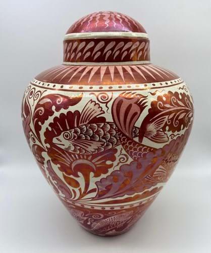 William De Morgan red lustre jar