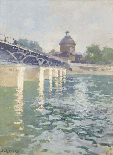 Ernest Jules Renoux painting