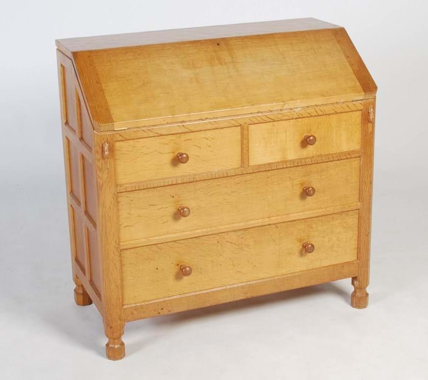 Mouseman oak bureau