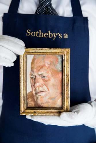 Lucian Freud portrait of John Richardson