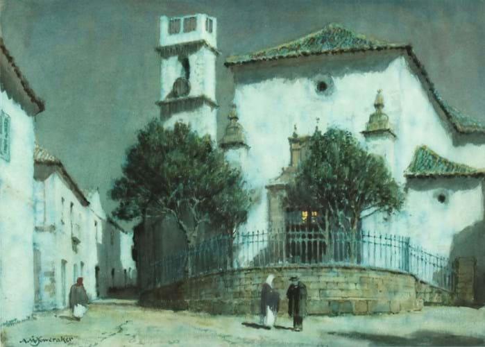 'Moonlight, San Roque' by Albert Moulton Foweraker