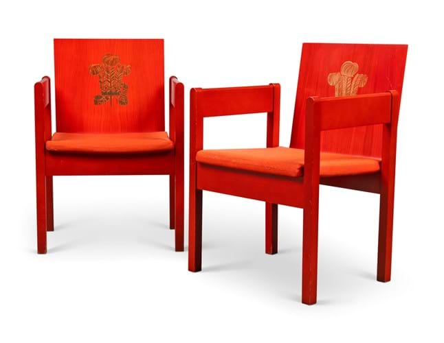 Prince of Wales investiture chairs
