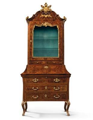 Walnut bureau cabinet