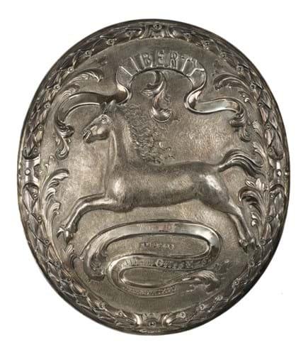 Silver arm badge