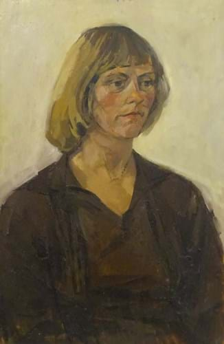 A portrait of Sally Arnup by Mick Arnup