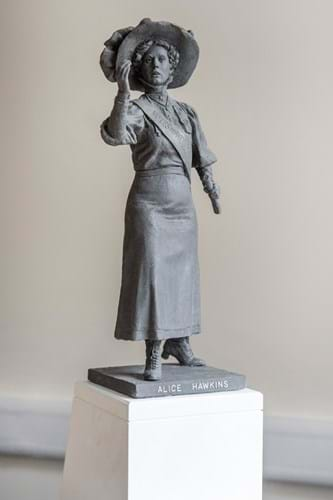 LOT 205 Sean Hedges-Quinn Bronze Maquette Sculpture of Alice Hawkins, English Suffragette 1.jpg