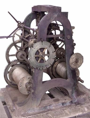 Victorian turret clock movement by Thomas Cooke Of York