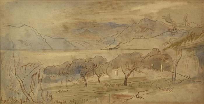 Edward Lear watercolour