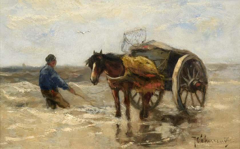 'The Seaweed Gatherers' by Johan Scherrewitz