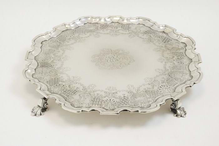 George II Newcastle silver salver