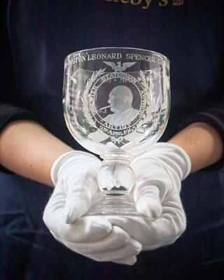 Churchill Commemorative Goblet celebrating his honorary American Citizenship. .jpg