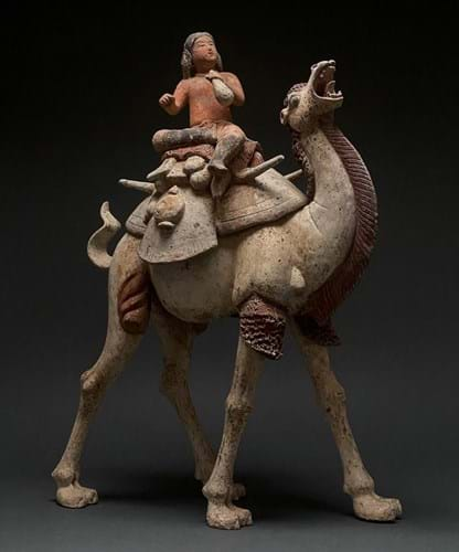 Tang pottery figure of a Bactrian camel
