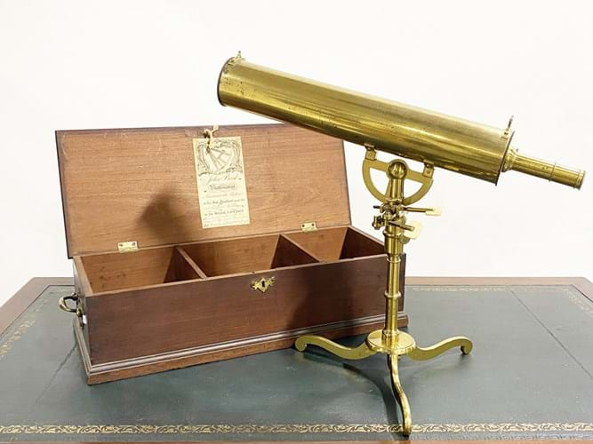 Antique brass telescope