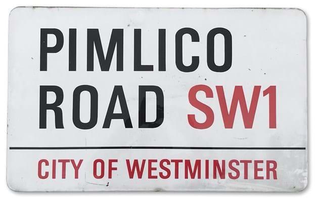 Pimlico Road sign