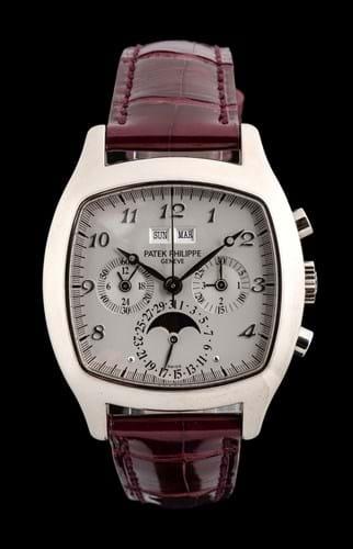 A white gold Patek Philippe watch