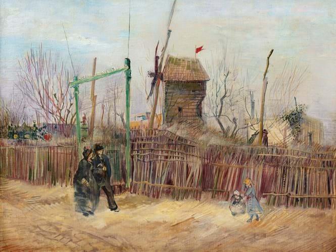 Vincent van Gogh Montmartre painting