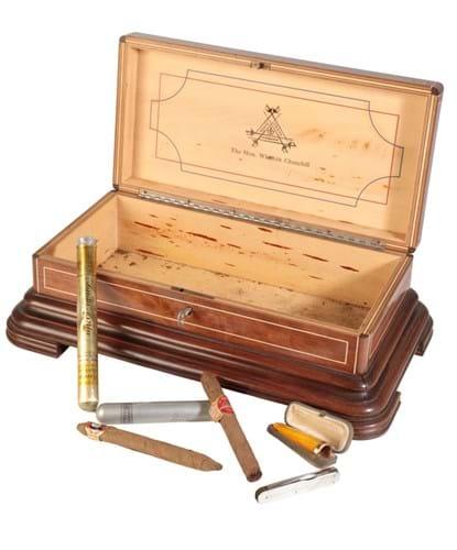 Churchill's rosewood cigar box