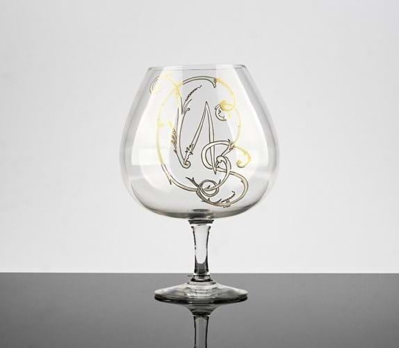 Churchill's brandy glass