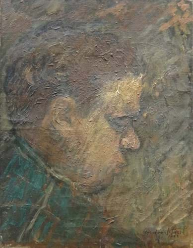 A portrait of Dylan Thomas