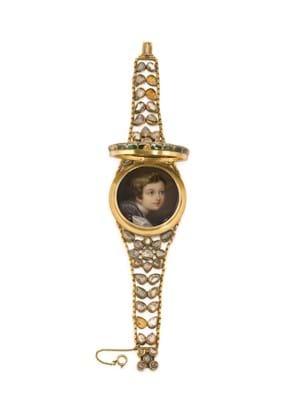 Queen Victoria Diamond gold bracelet