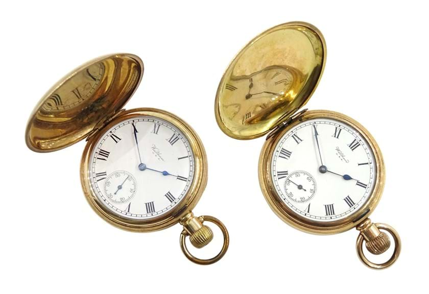Two pocket watches made by Waltham