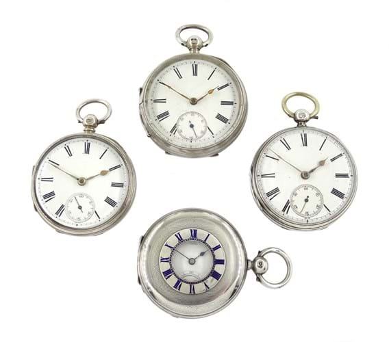 Four Victorian pocket watches