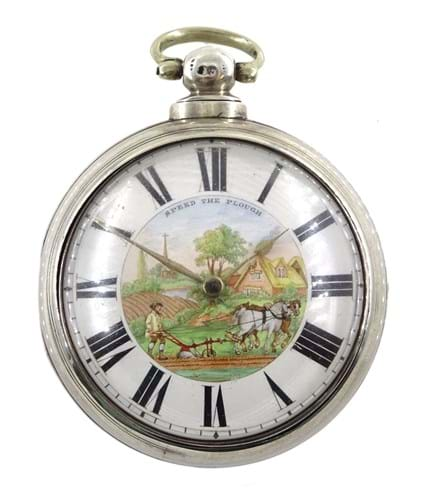 A Speed the Plough pocket watch