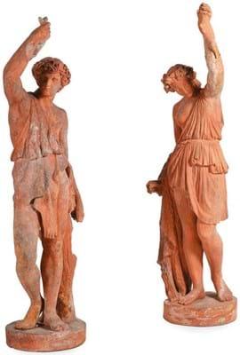 Terracotta models of Bacchantes
