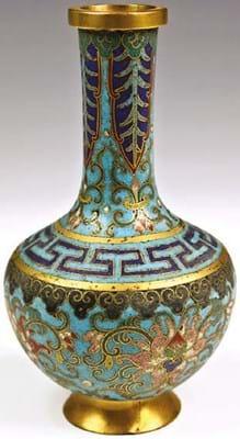 Qing bottle vase