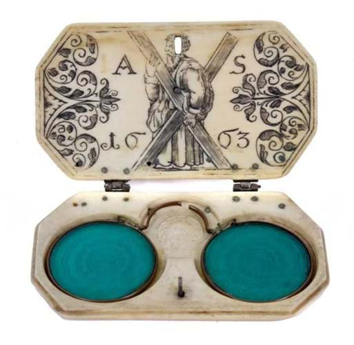 Antique glasses case
