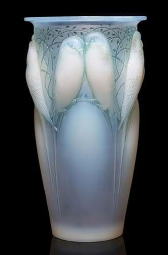 Lalique Ceylan pattern vase