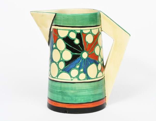 A Clarice Cliff 'Broth' Fantasque Bizarre conical jug