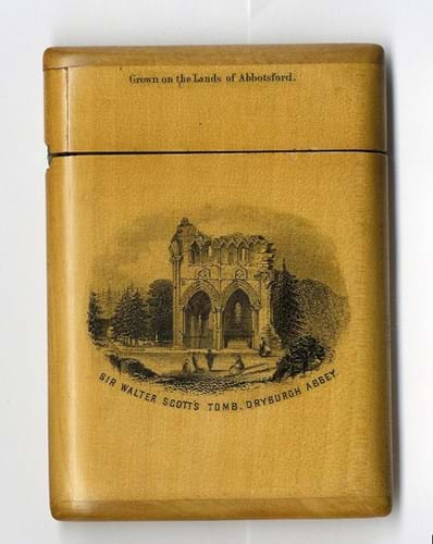 Mauchline card case with transfer printing
