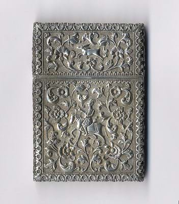 Anglo-Indian silver card case