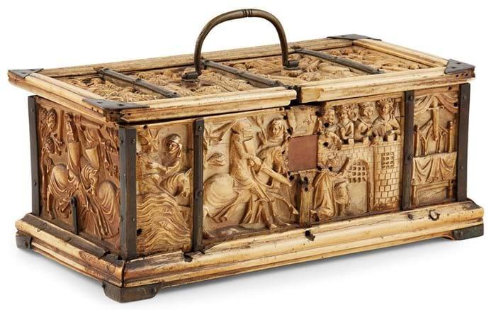 Ivory table casket