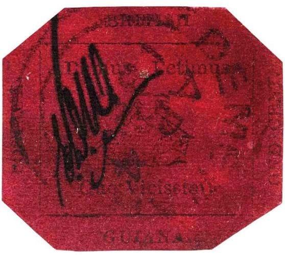 British Guiana Magenta stamp