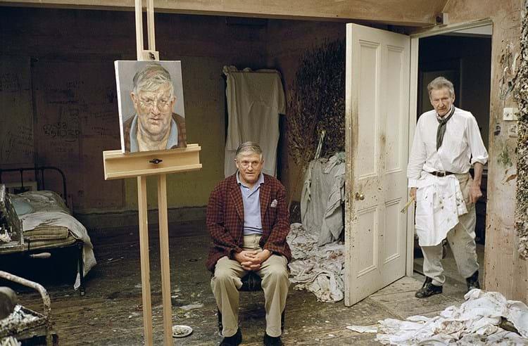 Lucian Freud and David Hockney