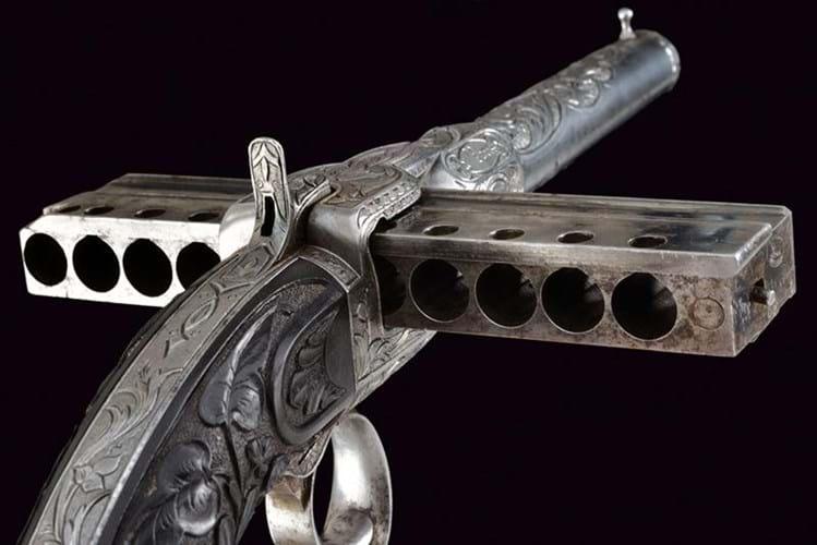 J Jarre and Co 'harmonica' pistol