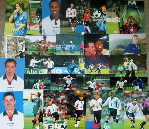 England football photo cards