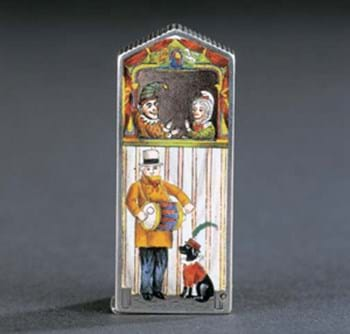 Victorian vesta case with Punch and Judy