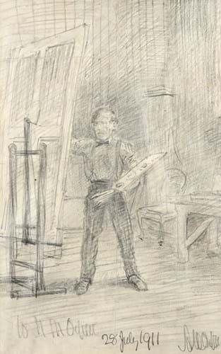 Arthur Herbert Orpen drawing