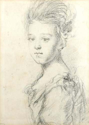 Godfrey Kneller portrait drawing