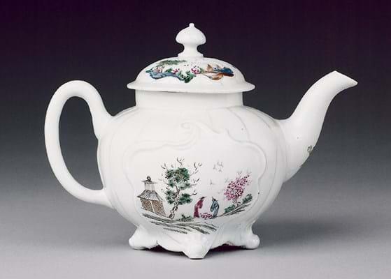 Worcester Porcelain rococo teapot
