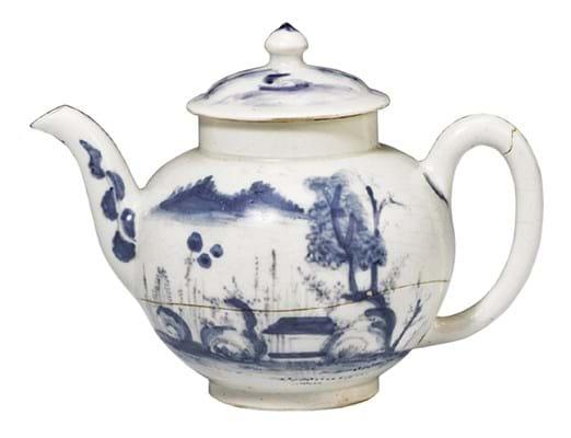 Worcester Porcelain underglaze blue teapot