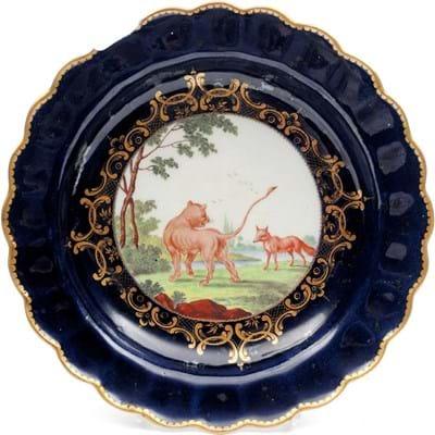Worcester Porcelain Aesops Fables plate