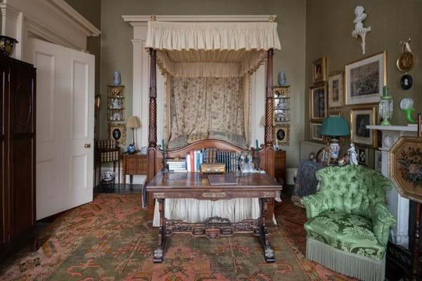 19th century mahogany tester bed