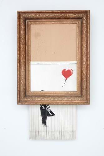Banksy's 'Love is in the Bin'