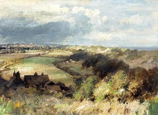 Behind the dunes by Edward Seago
