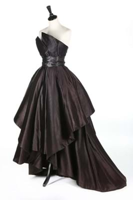 Christian Dior black silk evening dress
